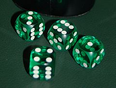 Precision Dice Made From Biodegradable Cellulose Acetate; Image by Roland Scheicher