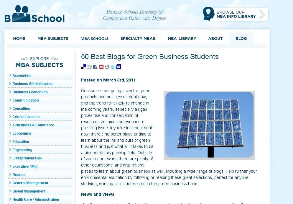 50 best blogs for green business students | innovativeindustry, Skeleton